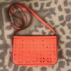 Milly very lightly worn orange/silver bag